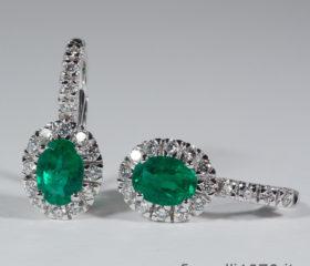 Orecchini pendenti di Smeraldo