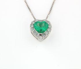 Collana Cuore di Smeraldo
