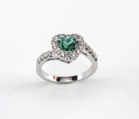 Anello Smeraldo Cuore