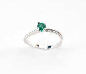 Anello Smeraldo Solitario