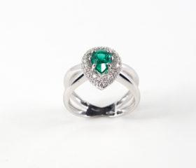 Anello Goccia Smeraldo