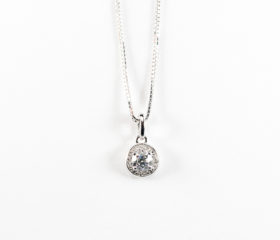 Pendente Diamante centrale con contorno