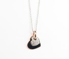 Collana Cuori e Diamanti