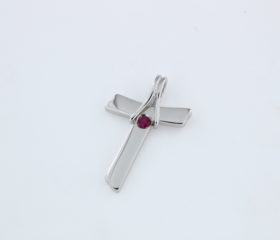 Croce Tao con Rubino
