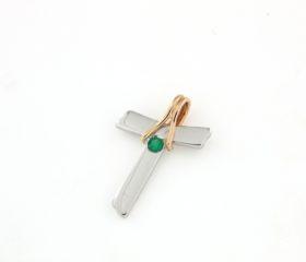 Croce Tao con Smeraldo